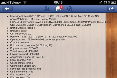 facebook funky user agent